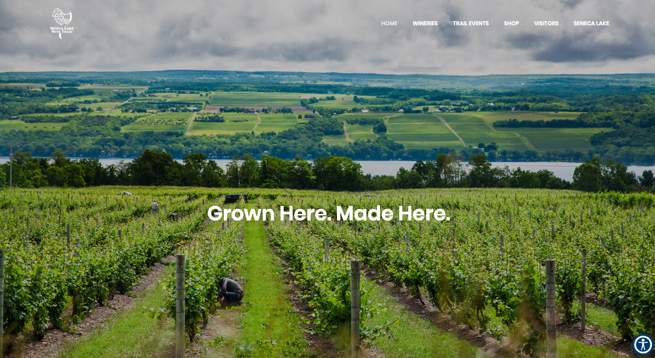 Seneca Lake Wine Trail website designed by Creagent Marketing
