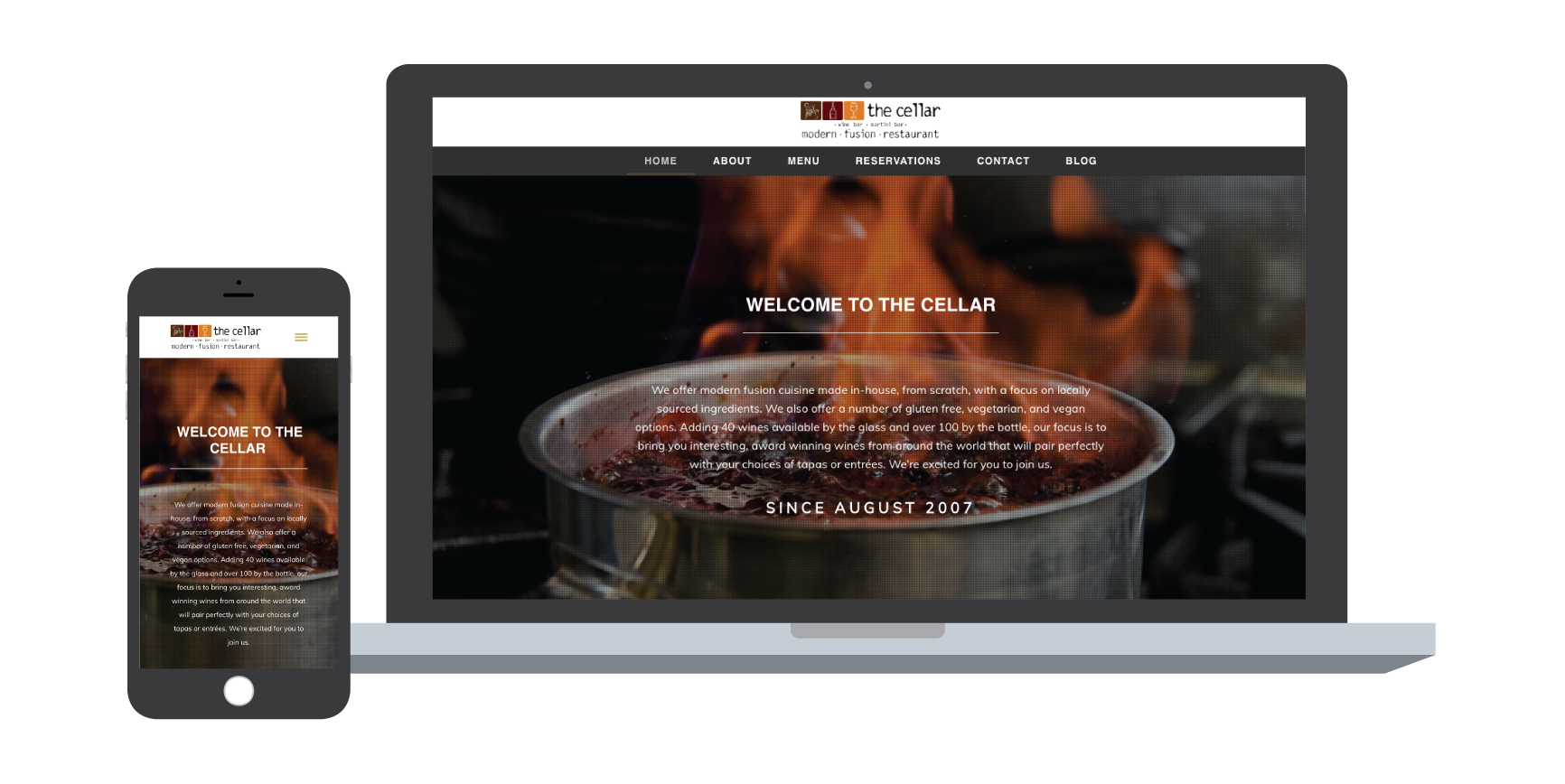 the cellar website design corning ny
